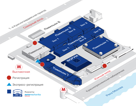 павильона, Карта метро
